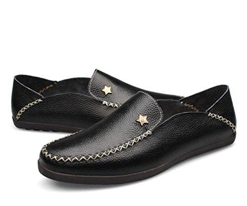 Mocasines Slip-ons Low Top Moda antideslizante cómodo Soles suaves Casual Men's Shoes UE tamaño 37-45 Black