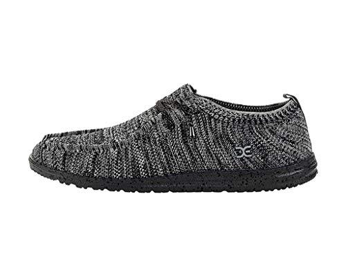 Hey Dude Men's Wally Knit Black White, Size 9