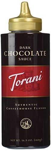 TORANI SAUCE Squeeze Dark Chocolate 16.5oz, 2-pack ()