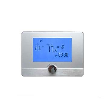 Bodbii Programable Digital Termostato de Pared regulador de Temperatura de Caldera de Gas Sistema de calefacción del termostato LCD 5A: Amazon.es: ...