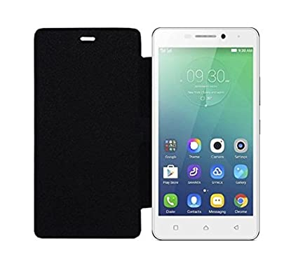 detailed look 0eb5c c7fec Scudomax Premium Flip Cover Case Black for Lenovo Vibe P1m/(P1 M) (Black)