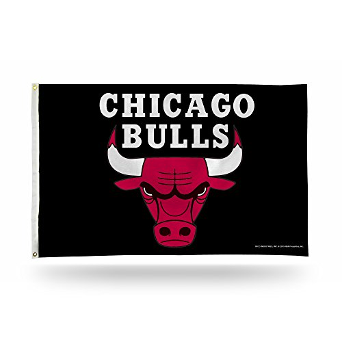 - Rico Industries NBA Chicago Bulls 3-Foot by 5-Foot Single Sided Banner Flag with Grommets