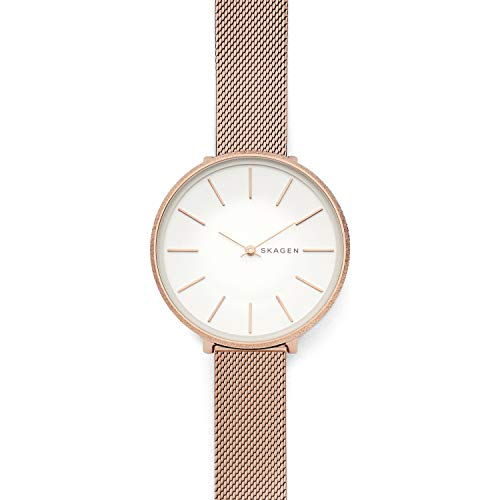 - Skagen Women's Karolina Analog-Quartz Stainless-Steel-Plated Strap, Rose Gold, 14 Casual Watch (Model: SKW2726)