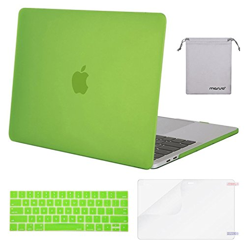 MOSISO MacBook Pro 13 Case 2018 2017 2016 Release A1989/A1706/A1708, Plastic Hard Shell & Keyboard Cover & Screen Protector & Storage Bag Compatible Newest Mac Pro 13 Inch, Greenery