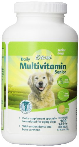 Excel Time Release Multi-Vitamins for Senior Dogs, 100-Count