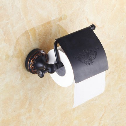 Oulantron Oil Rubbed Bronze Brass Toilet Paper Holder Roll Tissue Bracket Wall Mounted
