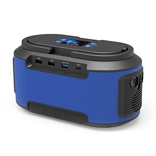 Generator Power, RegeMoudal 222Wh 60000mAh Solar Portable Generator Power Station Rechargeable Emergency Power Back up Station 4 USB Port for Car Kits Camping Travel