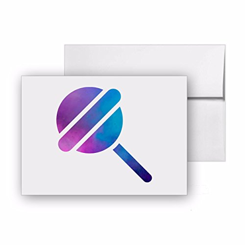 Lollipop Candy Marshmallow Lolly, Blank Card Invitation Pack, 15 cards at 4x6, with White Envelopes, Item 23365 ()