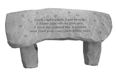 Kay Berry Each Night When I am Lonely Cast Backless Garden Bench
