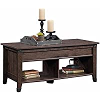 Pemberly Row Lift Top Coffee Table in Coffee Oak