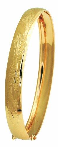 Diamantly - Jonc En or Jaune Grave 8.5mm D. 65mm - or 375/1000 (9 Carats) - Femme - Fille
