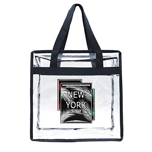 Hoioeps Stadium Approved Clear Tote New York Fashion Art Travel Gym Bags  for Sch.. c960b9f757e8f