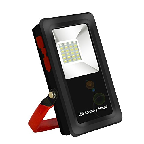 12 Watt 24 LED Cordless Rechargeable LED Flood Light,IP 65 Waterproof Portable Outdoor Work Light With Folding Tripod Stand for Camping Emergency(Batteries are not included)) by Porlik
