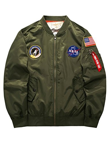 Jacket Armee V Design Collier Force Nasa Manteau Americaine xl One Air Et Col Retro S vert Loisirs Style1 Sports Pilotes Matchlife Style Baseball Hommes Bomber twzq44