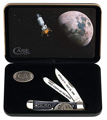 - CASE XX WR Pocket Knife 22020 50th Anniversary Man on The Moon Trapper (6254 SS)