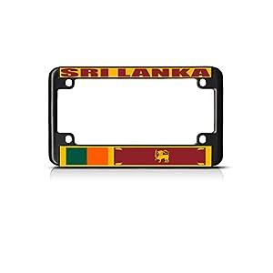 Elvira Jasper Sri Lanka Country Flag Bike Black License Plate Frame Tag Holder