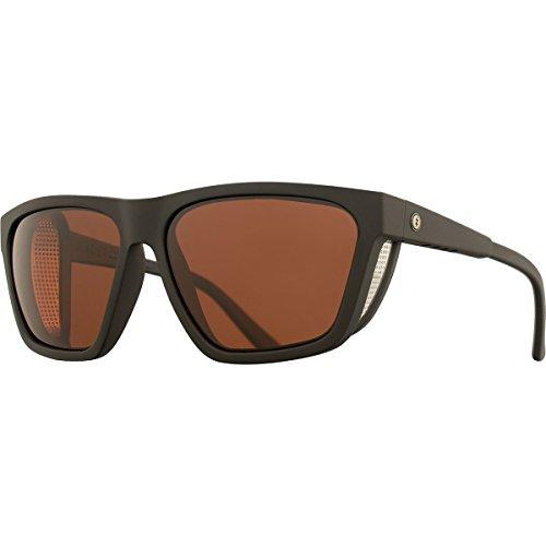 Electric Visual Road Glacier Matte Black/OHM+Polarized Rose Sunglasses by Electric