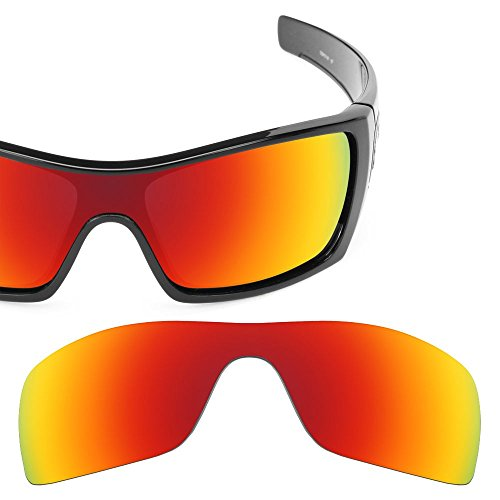 Tactical Lens MIA Polarized Fire Red Iridium Replacement Sunglasses Lenses For Oakley - Lens Oakley Fire Holbrook Iridium