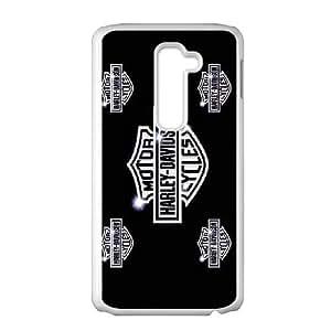 Pattern Hard Case Cover LG G2 Cell Phone Case White Harley Davidson Lyivg Back Skin Case Shell