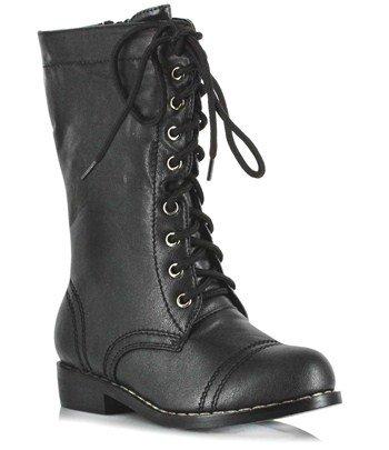 Ellie Shoes Combat Child Boots, Black, Medium (13/1)(Pack Of (Ellie Up Halloween Costume)