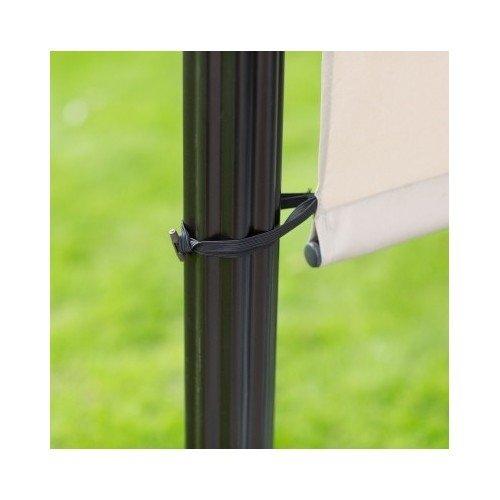 Steel Pergola Gazebo with Retractable Canopy Shades