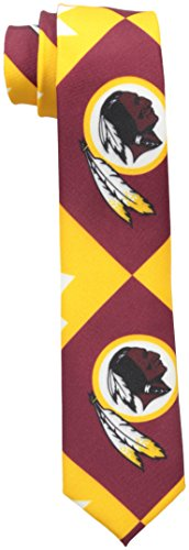 NFL Washington Redskins Men's Patches Ugly Printed Tie, One Size, Red
