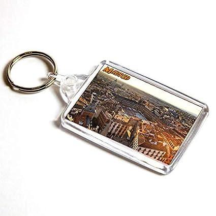 AWS Llavero Madrid España Souvenir Espana Key Ring de PVC ...