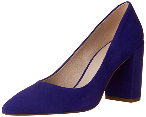 US Closed Kenneth Electric Cole Pumps Women's Suede Black Toe Margaux Blue ABCSpqw