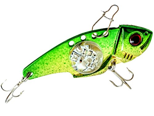 Tundra Tackle Co Vibe MinO LED Lighted Blade Style Reaction Bait, Battery Powered Electronic Water Activated Solid Glowing Light Non-Flashing price tips cheap