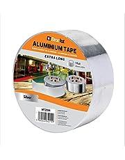 Brackit 48 mm x 60 m Extra lange aluminiumfolie tape | Geleidende, hittebestendige verijdelde tape rollen voor HVAC-reparatie, kanalen, isolatie, drogers,