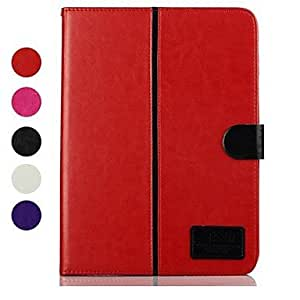 JJE The Crystal Pattern PU Leather Full Body Case with Card Slot for Samsung Galaxy Tab 4 10.1 T530 , Red