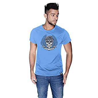 Creo Take Me To Jumeirah Bikers T-Shirt For Men - M, Blue