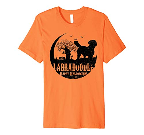 LABRADOODLE Dog Halloween Costume T-shirts]()