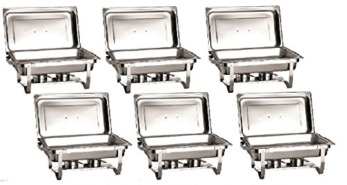 chafer 6 pack premier choice stainless steel chafer dish 8 qt capacity 6 pack quantity 6