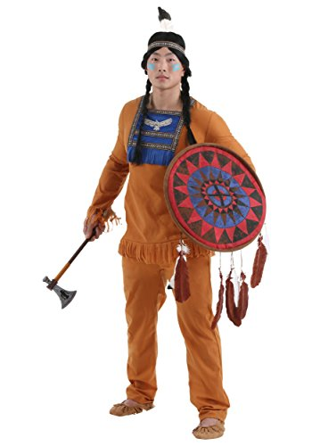 [Plus Size Mens Brave Indian Warrior Costume - 2x] (Warrior Man Costumes)