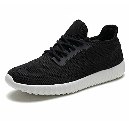 UNMK FUN Women's Fashion Sneakers Running Shoes 9518W02 Walking Shoes (8, Black)