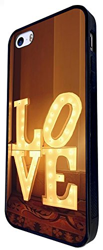 150 - Love Fun Word Design iphone SE - 2016 Coque Fashion Trend Case Coque Protection Cover plastique et métal - Noir
