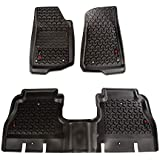 Rugged Ridge 12987.05 Black Floor Liner Kit, Front/Rear, 18-18 Jeep Wrangler Unlimited JLU, 2 Pack