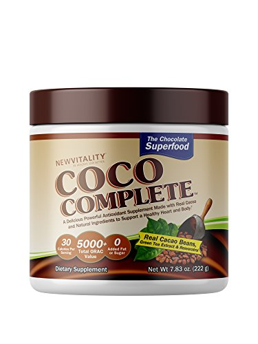 Coco Complete | Delicious Chocolate Flavored Superfood That Combines Real Cacao Beans with Green Tea Extract & Resveratrol- A High Antioxidant Supplement & Immune Supporting -