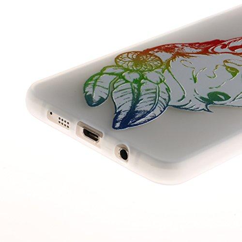 Funda Samsung Galaxy A3 2016 SM-A310F,XiaoXiMi Carcasa de Silicona TPU Suave y Esmerilada Funda Ligero Delgado Carcasa Anti Choque Durable Caja de Diseño Creativo - Mapa Lobo
