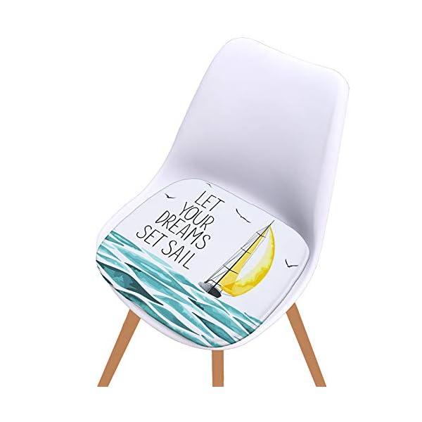 WDOIT - Cuscino per Sedia, particolarmente Imbottito, per mobili in Rattan, da Giardino, Stile 4, 40 * 40cm 5 spesavip