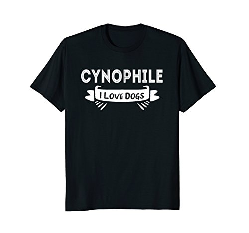Cynophile, I Love Dogs T-Shirt