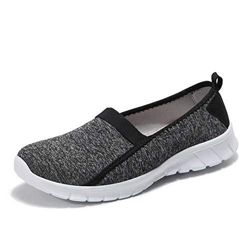 Qiusa Zapatos (Color : Verde, tamaño : EU 41) Negro