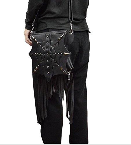 Lovezhou PU donne di nuovo stile steampunk colore solido nappa borsa a tracolla da donna