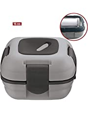 Lunch Box ~ Pinnacle Insulated Leak Proof Lunch Box for Adults and Kids - Thermal Lunch Container With NEW Heat Release Valve, 16 oz (Grey)