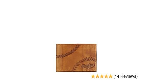 6d829a196f30 Rawlings Men's Line Drive Front Pocket Wallet, Tan, OS at Amazon ...