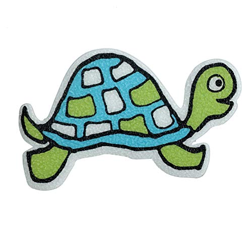 SlipX Solutions Adhesive Bath Treads: Turtle Tub Tattoos Add Non-Slip Traction to Tubs, Showers & Other Slippery Spots (Kid Friendly, 5 Count, Reliable Grip)