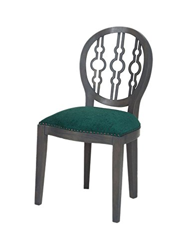 Sterling Dimple Chair in Antique Smoke And Green Fabric - Fabric Upholstered Corner Chair