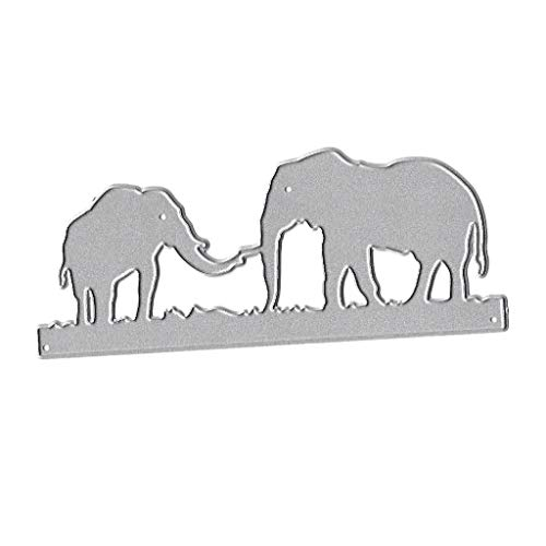 BUZHI 1 Pc Elephant Cutting Dies Metal Elephant Die Embossing Stencils for Thanksgiving Christmas Card Paper DIY Craft Decoration (Die Elephant)