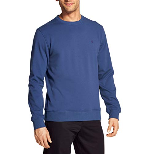 IZOD Men's Advantage Performance Long Sleeve Solid Fleece Soft Crewneck Pullover, Bright Cobalt X-Large Slim ()